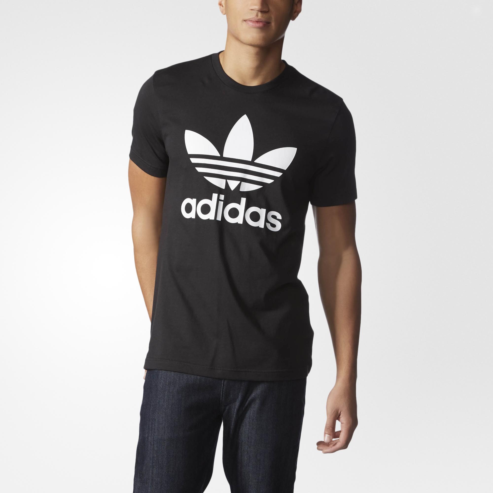 0770fddcf5ca4 adidas Trefoil Tee - Black
