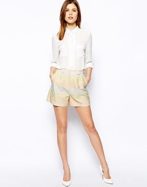 ASOS | ASOS Shorts in Metallic Pastel Stripe at ASOS