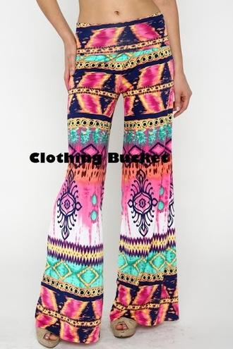 pink pants tie die printed pants tie die pants trobal print boho print boho look blogger