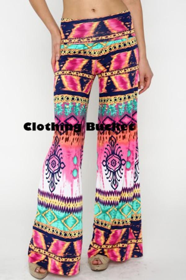 tie dye pink pants printed pants tie die pants trobal print boho print boho look fashion blogger