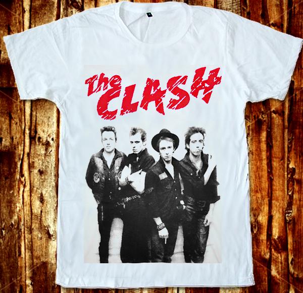 The Clash Joe Strummer Cut The Crap Plastic Beach White Unisex T Shirt s to XXL | eBay