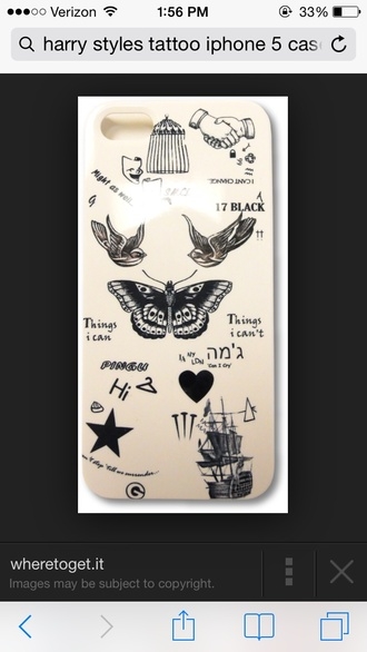 phone cover harry styles tattoo phone case