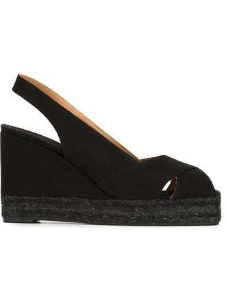 back sandals wedge sandals black shoes