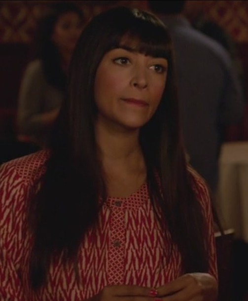 romper new girl zig zag print cece parekh hannah simone red and white