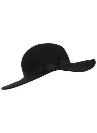 Black Felt Floppy Hat - Hats, Scarves & Gloves  - Accessories  - Miss Selfridge