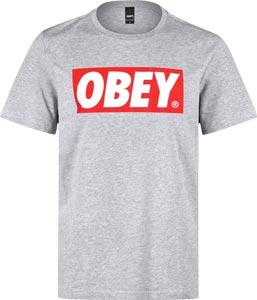 Obey Bar Logo T-Shirt grau meliert