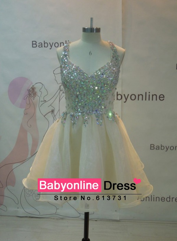 Aliexpress.com : buy real pictures sparkly v neck crystal beaded top homecoming dresses 2014 short prom dresses cocktail party dresses under 100 from reliable dress apple suppliers on suzhou babyonline dress store