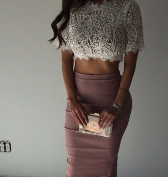 skirt nude high waist fitted women's cardigan top