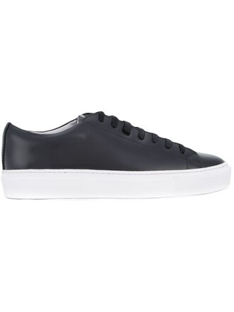 women classic sneakers leather black shoes