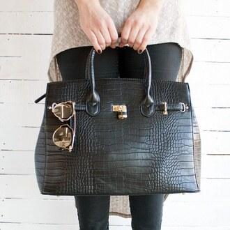 bag purse crocodile faux handbag sunglasses sunnies accessories structured bag oversized vegan vegas gojane