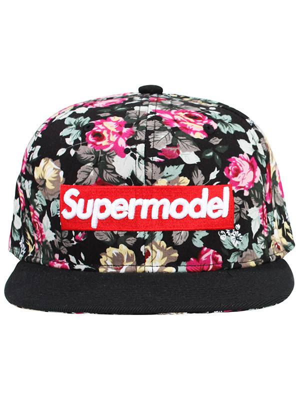 hat supermodel floral graphic tee print flowers snapback baseball cap cap makeup table vanity row dress to kill