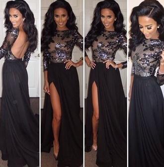 sequin dress maxi dress open back dress