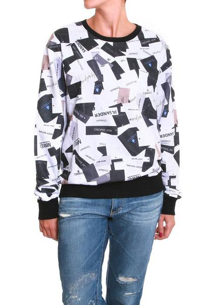 Labels addict print sweater – glamzelle