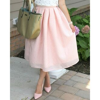 skirt pink summer romantic fashion midi skirt cute girly rose wholesale-ap