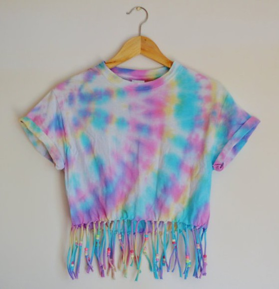 tie dye top franges