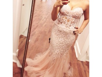 dress sheer pink dress lace dress