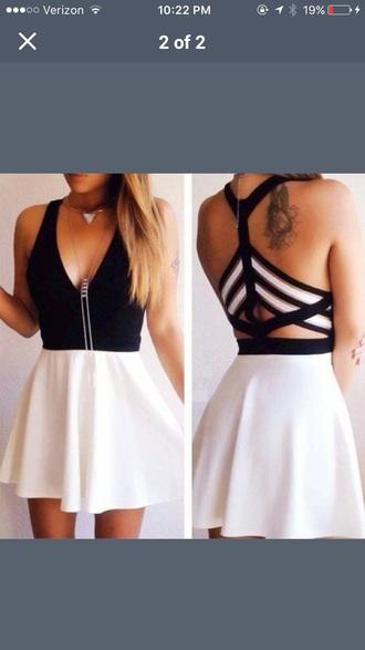 dress black dress short dress cut-out dress