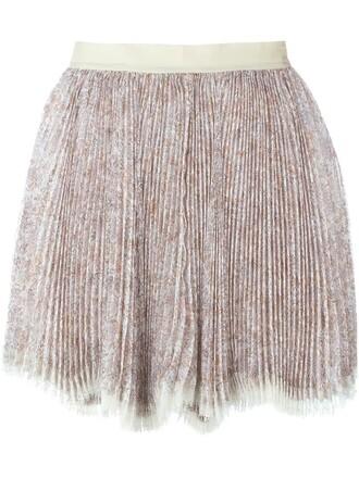 skirt mini skirt mini pleated nude