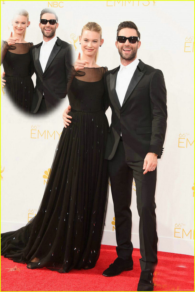 Aliexpress.com : Buy 2014 Newest Behati Prinsloo Emmys Red Carpet Dress Long Sleeves Black Chiffon Scoop Beaded Celebrity Evening Dresses from Reliable carpet wand suppliers on 27 Dress