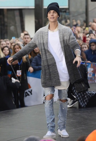 cardigan justin bieber grey ombre sweater ombre sweater