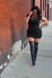 dress,little black dress,shoes,curvy