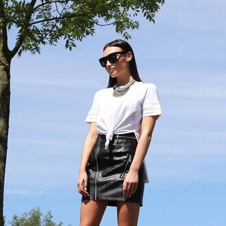 skirt maniere de voir snake python black mini zip marianna hewitt zipped skirt