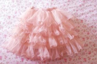 tutu ruffle pink skirt skirt