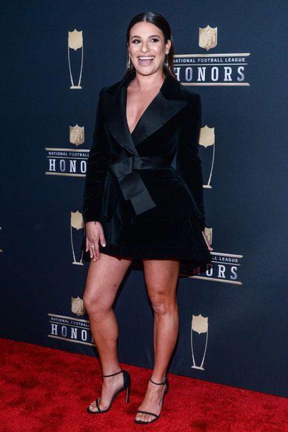 3d2b87a590f2 dress, blazer dress, black dress, mini dress, sandals, lea michele ...