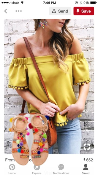 blouse pom pom