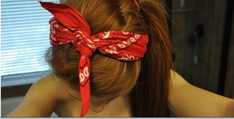 jewels bandana spiked headband red