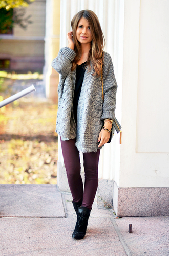 mariannan blogger cardigan jeans bag jewels