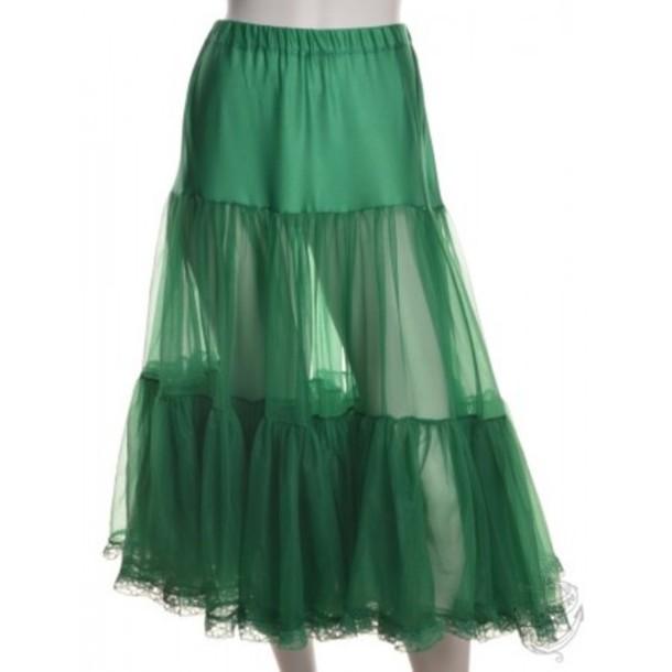 skirt petticoat green