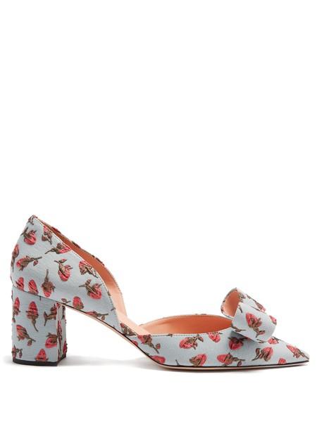 Rochas pumps floral blue shoes
