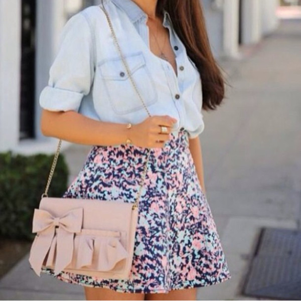 bag skirt shirt
