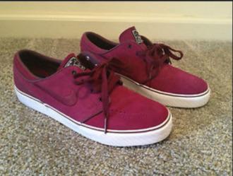 shoes tumblr tumblr girl nike sportswear burgundy maroon sneakers sneakers nike sb