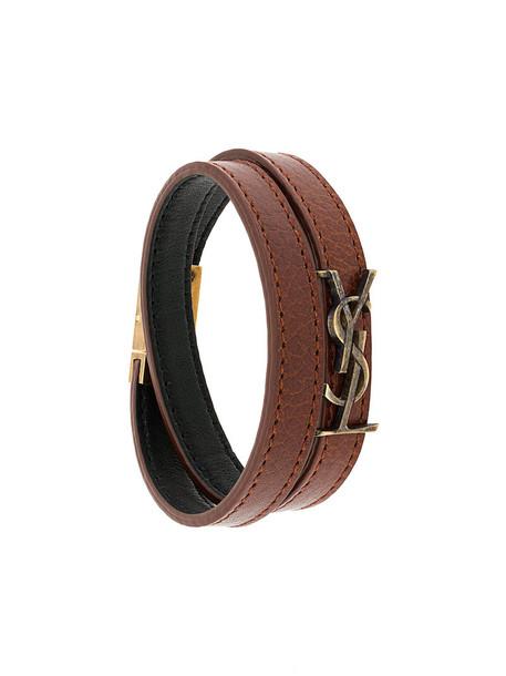 Saint Laurent women leather brown jewels