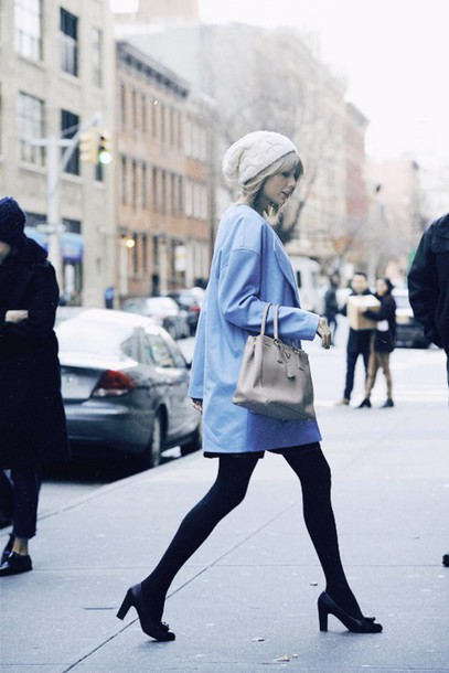 No roots anymore. —Zoe.  0rsvpy-l-610x610-coat-taylor+swift-classy-streetstyle-light+blue-black+heels-winter+outfits