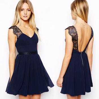 New 2014 summer casual dress European exclusive sexy lace halter chiffon dress sleeveless vest women dress free shipping | Amazing Shoes UK
