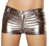 shorts,metallic paws,metallic