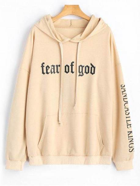 sweater hoodie nude cool fall outfits quote on it winter outfits long sleeves zaful