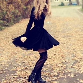 dress black black dress cute spring dark