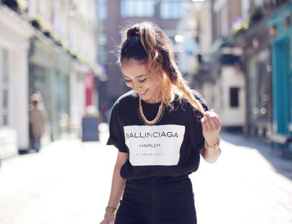shirt ballinciaga-harlem-tee-shirt- black white