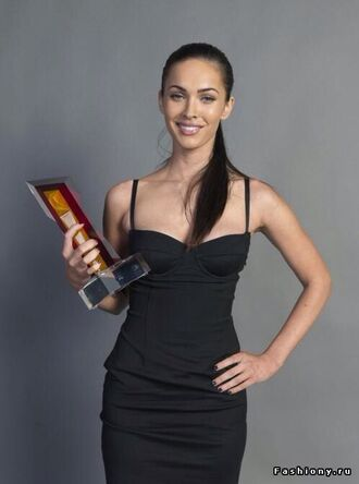 dress black dress little black dress megan fox