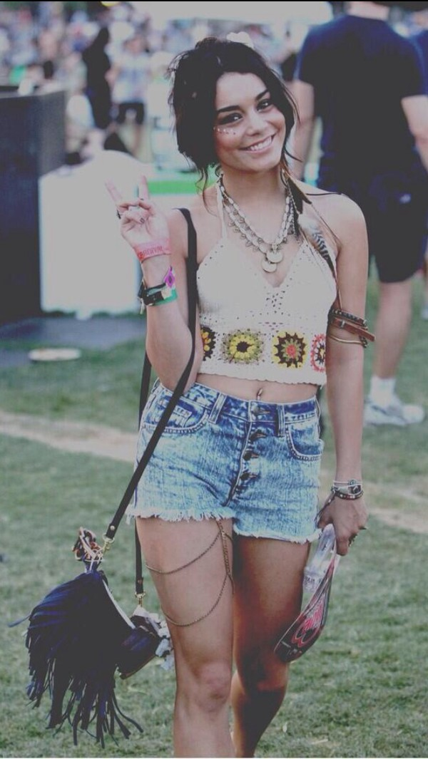 top coachella vanessa hudgens shorts festival hipster boho hippie