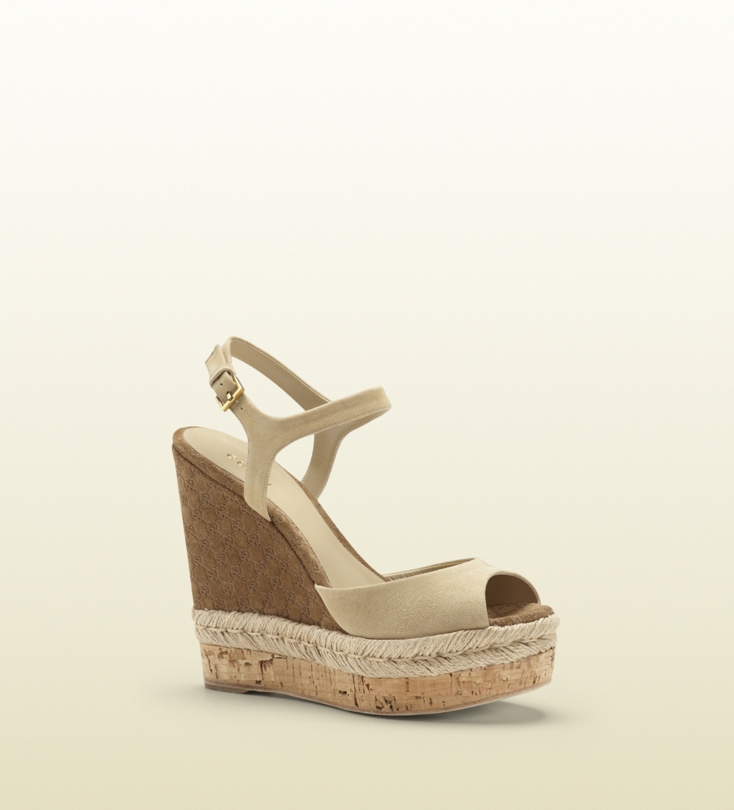 Gucci - hollie open toe wedge  310307C20002609