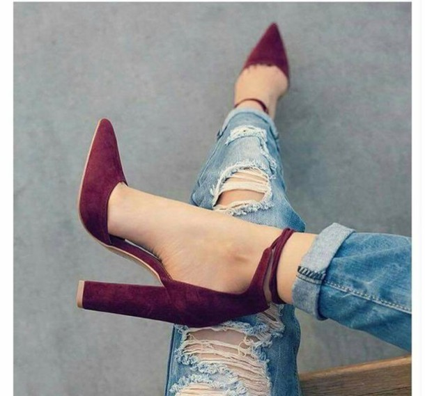 shoes, chunky heels, ankle strap heels