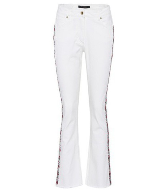 ETRO jeans embroidered jeans embroidered white