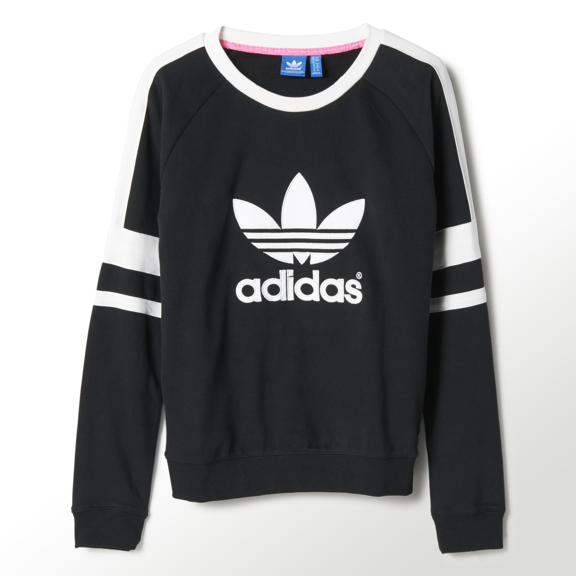 adidas women 39 s logo crew sweatshirt adidas canada. Black Bedroom Furniture Sets. Home Design Ideas
