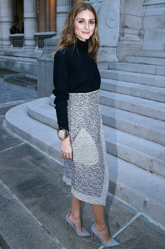 skirt olivia palermo pumps fashion week 2015