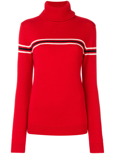 Perfect Moment sweater women turtle red